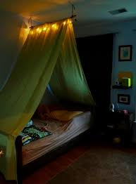 Toddler Bed Tent Canopy Diy Tent Over The Bed This Is Cool Like The Light Gotta Do This
