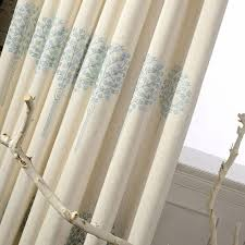 Embroidered Linen Curtains Linen Curtains Blackout For Bedroom Fabric Floral Blinds Drapes