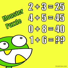 green monster maths puzzle number and math puzzle brainfans