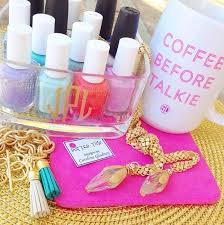 monogrammed nail polish organizer organize my life pinterest