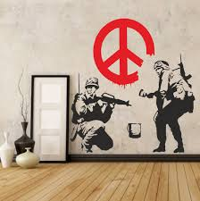 banksy soldiers wall decal sticker vinyl street art graffiti banksy soldiers wall decal sticker vinyl street art graffiti bedroom kitchen new ebay