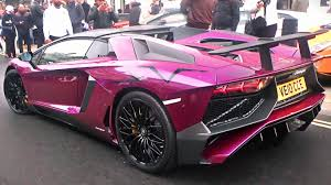 lamborghini aventador purple viola ophelia lamborghini aventador sv roadster in london youtube
