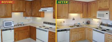 refinishing oak kitchen cabinets before and after awesome reface kitchen cabinets before after cabinet refacing
