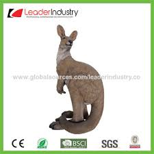 china 91cm large standing polyresin kangaroo garden ornament for