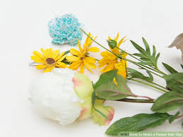 Flower Clips For Hair - 4 ways to make a flower hair clip wikihow