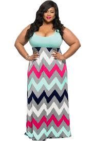light blue and white striped maxi dress plus size clothing vestido multicolor en zigzag summer time