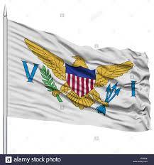 Virgin Islands Flag Isolated United States Virgin Islands Flag On Flagpole Usa State