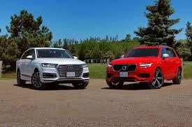 xc90 vs lexus rx 2016 2017 audi q7 vs 2016 volvo xc90 autos ca