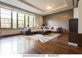 view modern living room wood stock photo 87878842