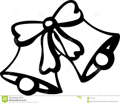 clipart christmas bells black and white collection