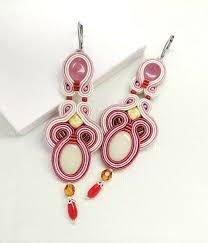 Pink Chandelier Earrings Pink Soutache Earrings Pink Chandelier From Beadsnsoutache On