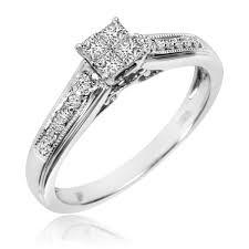 10k wedding ring 1 2 carat t w trio matching wedding ring set 10k white gold
