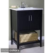 Bathroom Vanity 24 Inches Wide Legion 24 Inch Ceramic Single Sink Grey Bathroom Vanity Free