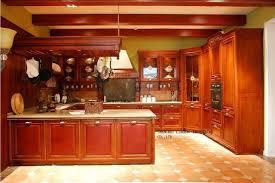 cuisine cerise en bois armoires de cuisine cerise couleur lh sw055 dans de sur