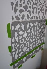 bathroom stencil ideas before after a colorful small gray bathroom with a wall stencil