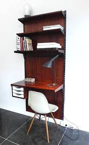 Desk And Shelving Units Rosewood Wall Mounted Shelving Unit With Desk By Kai Kristiansen