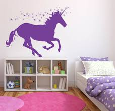 Wall Stickers For Girls Room Wall Decal Sticker Bedroom Pegasus Unicorn Magic Horse Dream