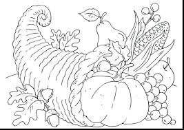 empty cornucopia basket coloring page simple thanksgiving