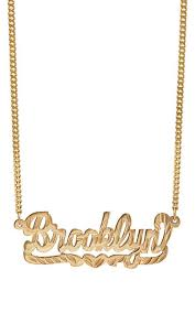 nameplate necklace gold pratt nameplate necklace gold women jewelry