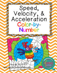 Speed Velocity And Acceleration Worksheet With Answers Speed Velocity Acceleration Color By Number Number
