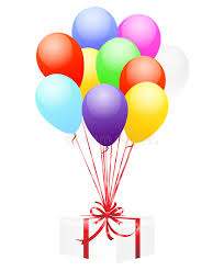balloons gift balloons and gift stock illustration illustration of package 14891362
