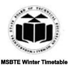 msbte winter timetable 2017 diploma polytechnic schedule dates