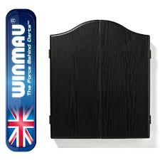 black dart board cabinet winmau dartboard cabinet black ash effect bennetts direct ltd