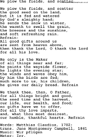 christian songs about thanksgiving thanksgiving and harvest hymns u0026 songs we plow the fields and
