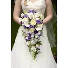 cascading bouquet cascading bridal bouquet roses callas orchids freesias
