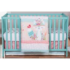 Aqua And Pink Crib Bedding by Trend Lab Wild Forever 3 Piece Crib Bedding Set Toys