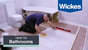 how to tile a bathroom floor with wickes youtube