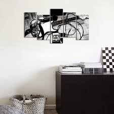 black and white picture electric guitar canvas painting music art black and white picture electric guitar canvas painting music art decor for bedroom wall mural home decor contemporary wall art in painting calligraphy