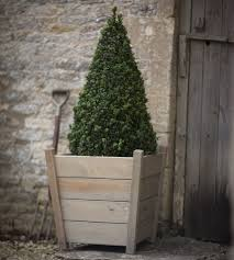 Outdoor Planters Large by Wooden Garden Planters Large Tapered Hardwood Garden Planters In