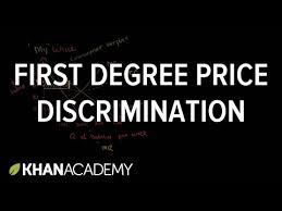 first degree price discrimination video khan academy