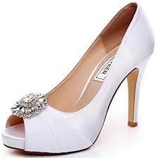 wedding shoes high luxveer wedding shoes combining satin lace and