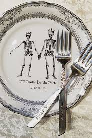 silver wedding plates 25 best skull wedding ideas on horror wedding