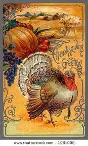 vintage thanksgiving card seasonal vintage