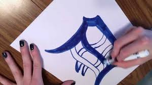 how to draw a detroit tiger old english