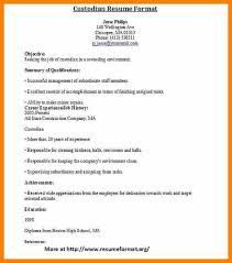 Janitor Resume Examples by 8 Custodian Resume Character Refence