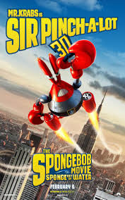 see new character poster for u0027the spongebob movie sponge out of