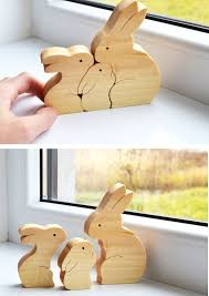 easter decorations for sale easter kids gifts bunny wood rabbit wooden puzzle bunny easter