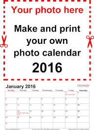 calendar 2016 free printable PDF templates