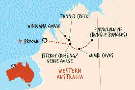 Australian Outback Map Western Australia Tours U0026 Travel Adventure Tours