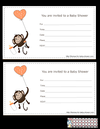 printable invitations free printable monkey baby shower invitations