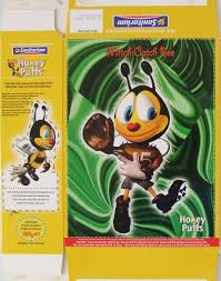 2000 sanitarium honey puffs honey bee cut outs cereal box mitch