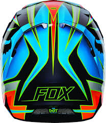 blue motocross helmets 2016 fox racing v4 race helmet mips yellow blue