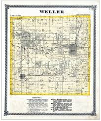 Illinois Township Map by Emery Daniels Ancestry Henry Emery Weller Township Henry