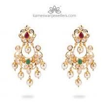 pachi earrings buy earrings online cz pachi chandbali from kameswari jewellers