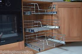 PULL OUT WIRE BASKET FOR KITCHEN CABINET BASE UNIT LARDER CUPBOARD - Kitchen cabinets base units