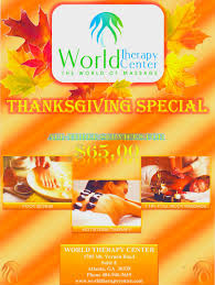 thanksgiving specials on therapy